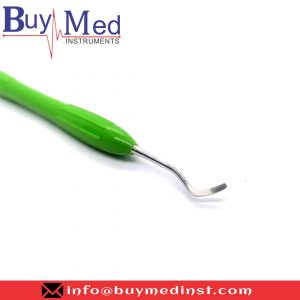 Dental Silicone Handle Excavator Double Ended Green (5)